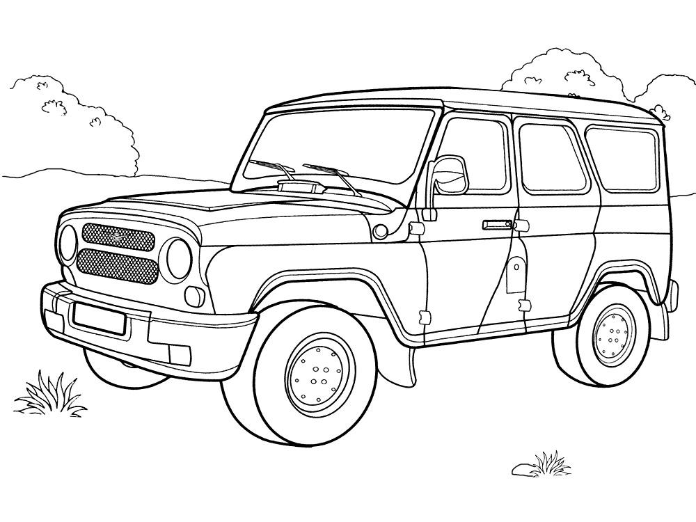 Онлайн раскраски с автомобилями для мальчиков и девочек