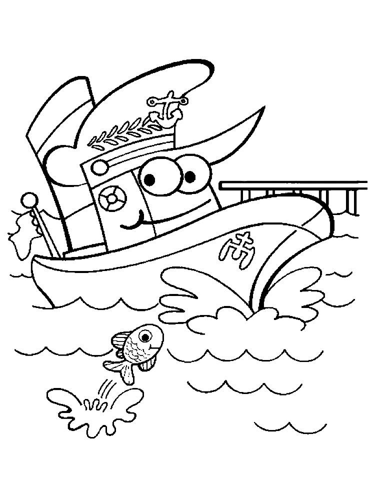Онлайн раскраски с кораблями для мальчиков и девочек
