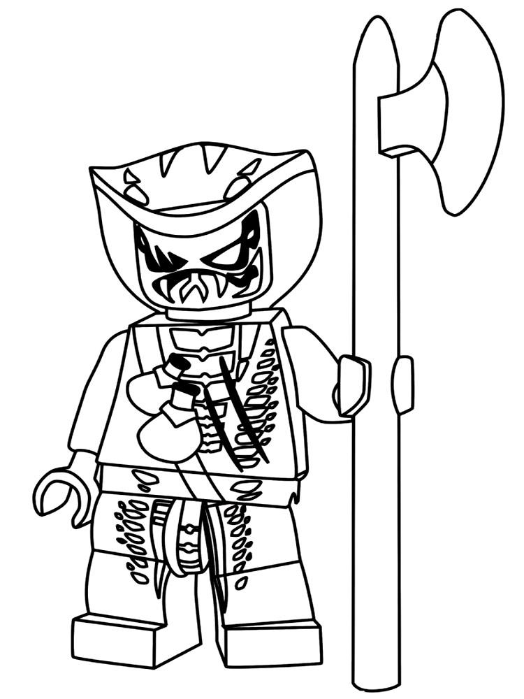 Раскраска лего ниндзя го - 9