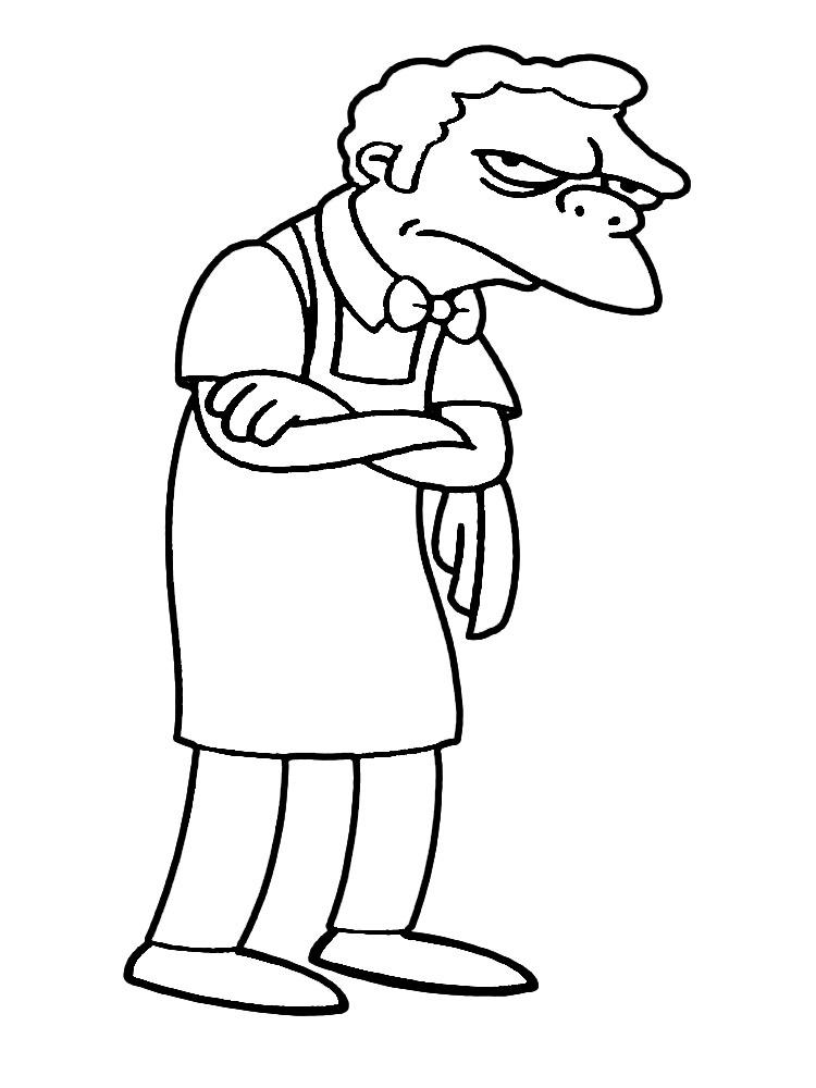 Игры раскраски Симпсоны понравятся девочкам и мальчикам
