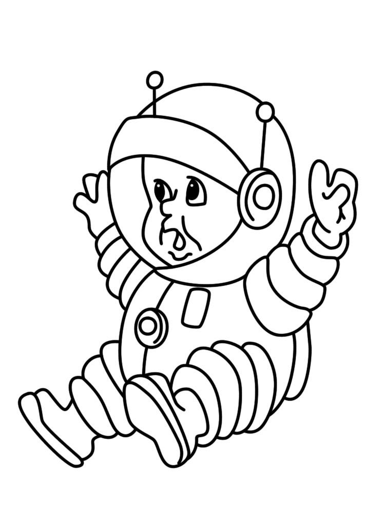 Онлайн раскраски с космонавтами - отличная игра для детей