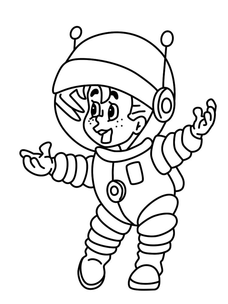 Картинки космонавты раскрашиваем онлайн или печатаем на ...