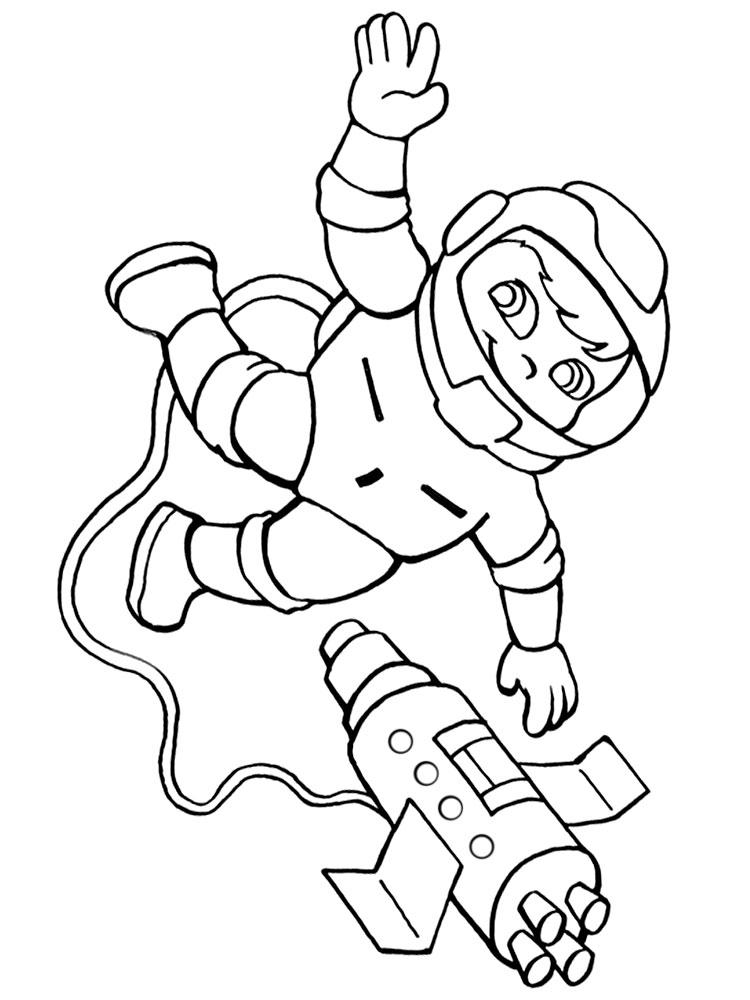 Игры раскраски космонавты понравятся девочкам и мальчикам